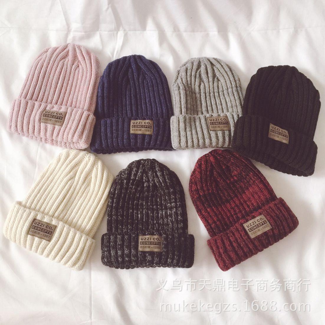 Fashion thick Twist Thread Knitted Hat Children Female Artificial Winter  Hats Caps Girl Women thread Knit Beanies 4f346e835cc3