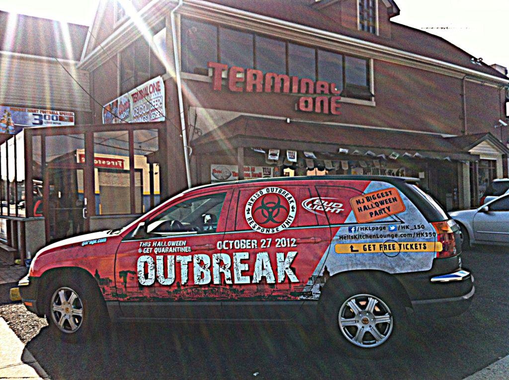Full Car Vinyl Wrap Halloween Event 2012 Newark Nj