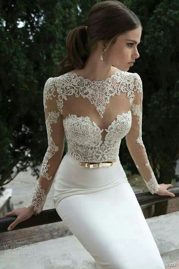 White Fitted Wedding Dresses