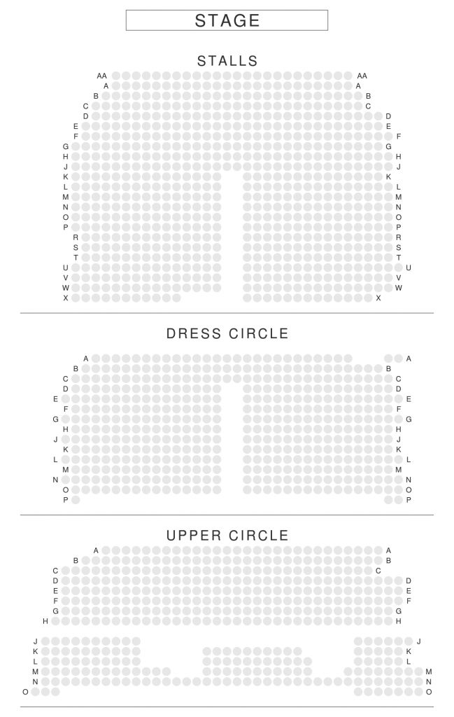 London Theatre London Theatre Seating Plan Theater Seating