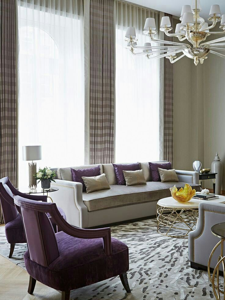 Pin By Ice On Home Purple Living Room Purple Living Room Furniture Beige Living Room Decor