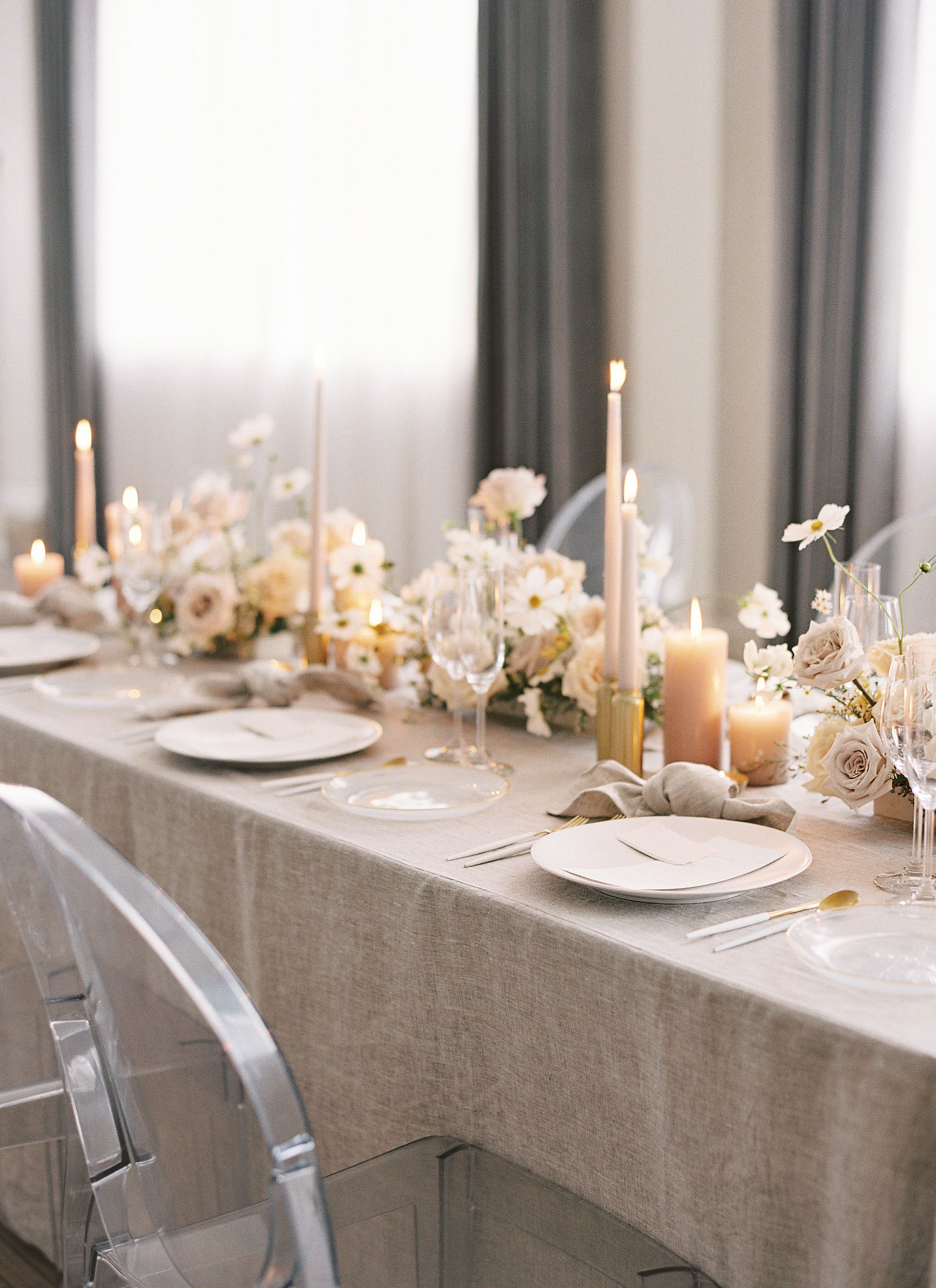 Timeless and Ethereal Wedding Inspiration at The Walper Hotel is part of Wedding tablescapes - Modern minimalism mixed with romantic touches of elegance and ethereal décor  at first, it's hard to imagine how this design combination would look… but after seeing this shoot from Rainbow Chan