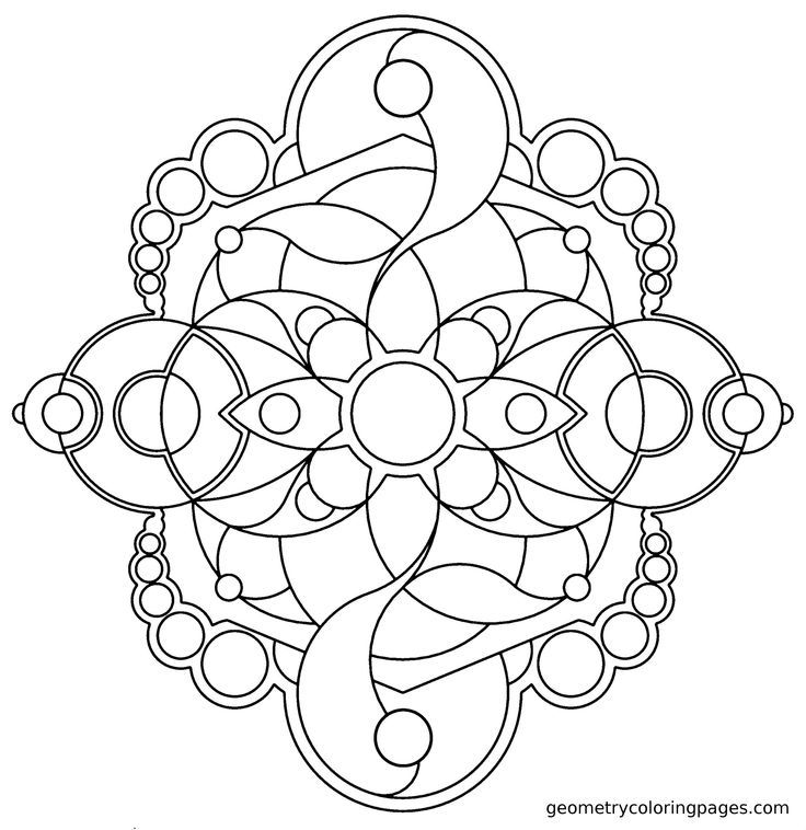 Pin by Geometry Coloring Pages on Geometry & Mandala Coloring Pages ...