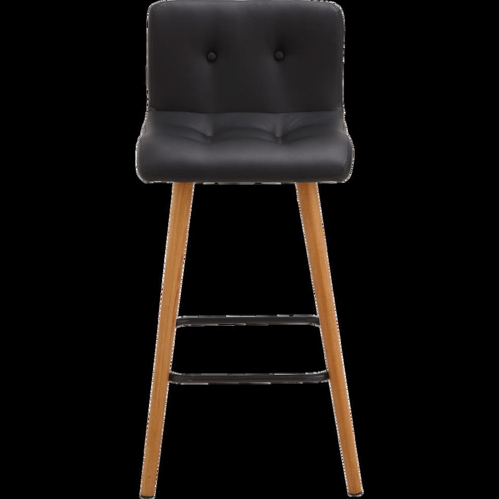 chaise de bar en simili noir  h66cm  frida  chaises et