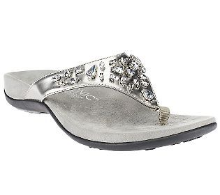 38c0553bf18 Vionic w  Orthaheel Pearl Orthotic Thong Sandals w  Jewel Detail - very  pretty.