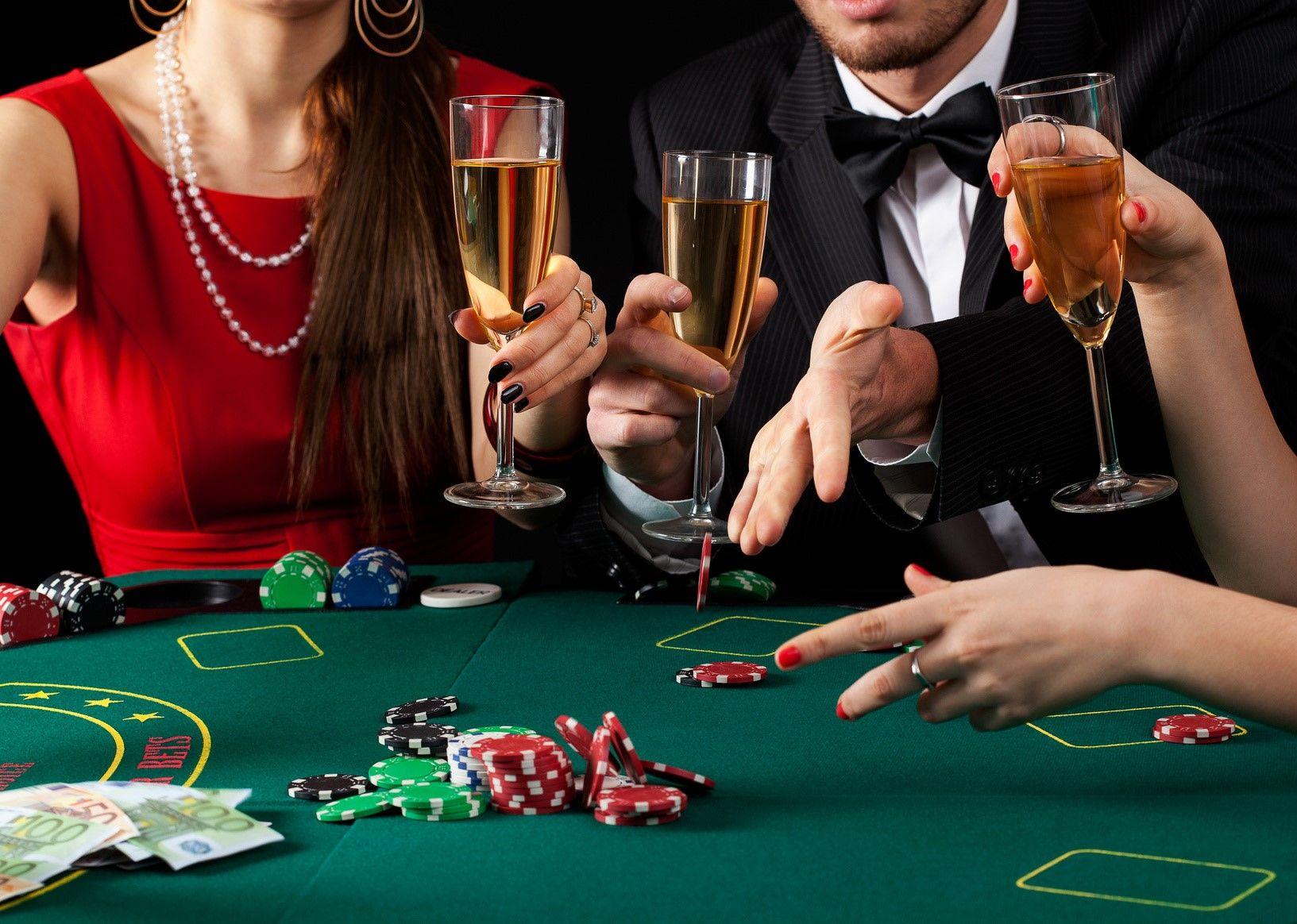 People enjoying a night out gambling at the casino Magazines slots lv reviews