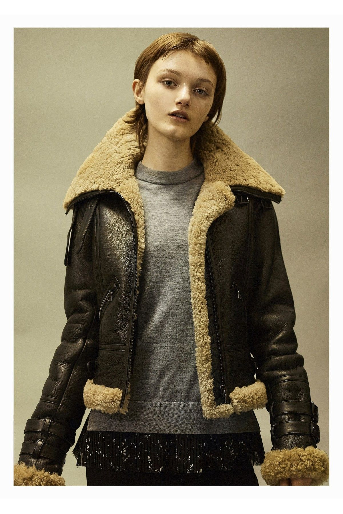 Yigal Azrouël Shearling Moto Jacket Jackets, Moto jacket