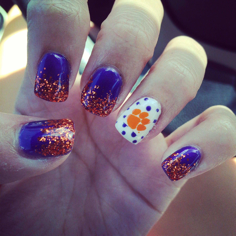 clemson tiger nails #clemson #tigers