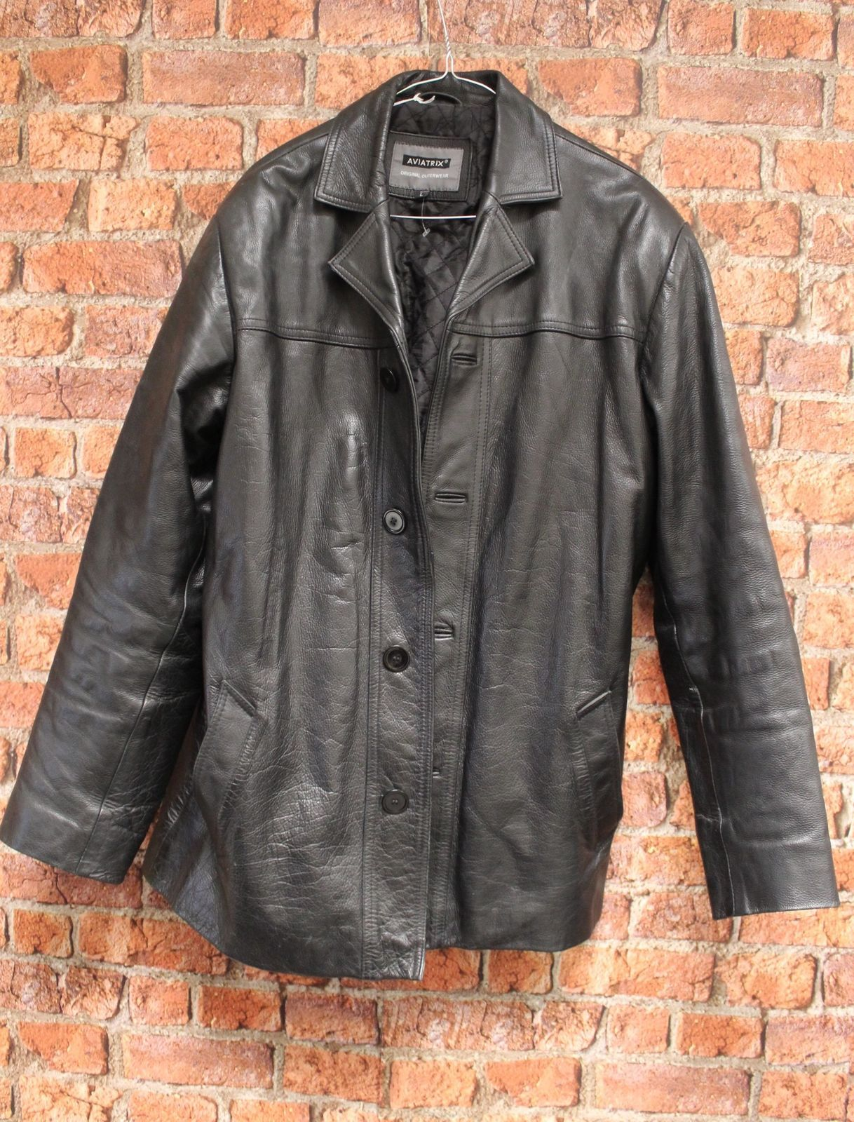 aviatrix leather mens coat