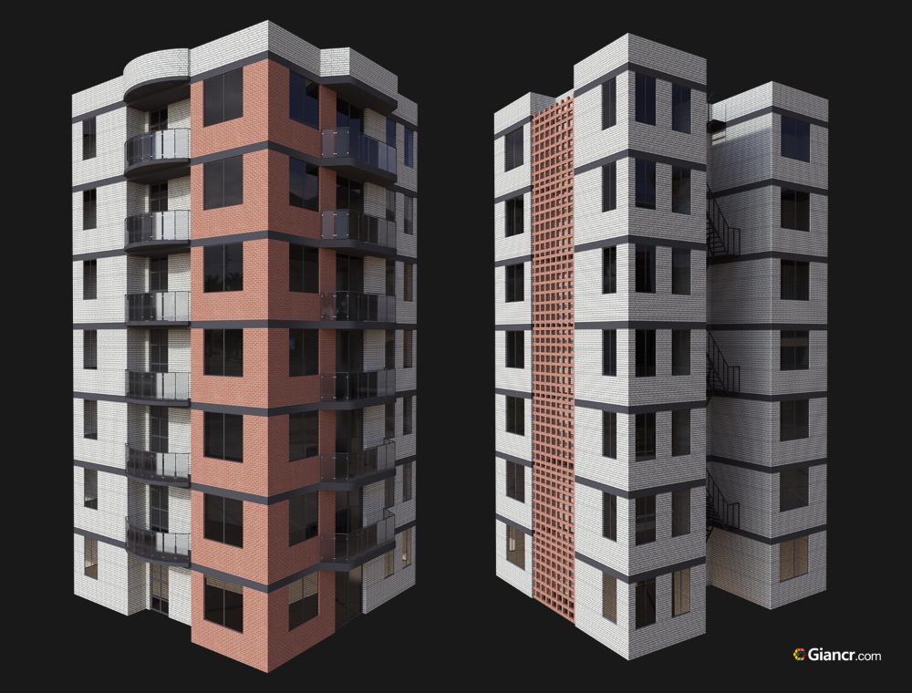 Modelo De Edificios 3d Descarga Gratis Giancr Modelos 3d Gratis Edificios Objetos 3d