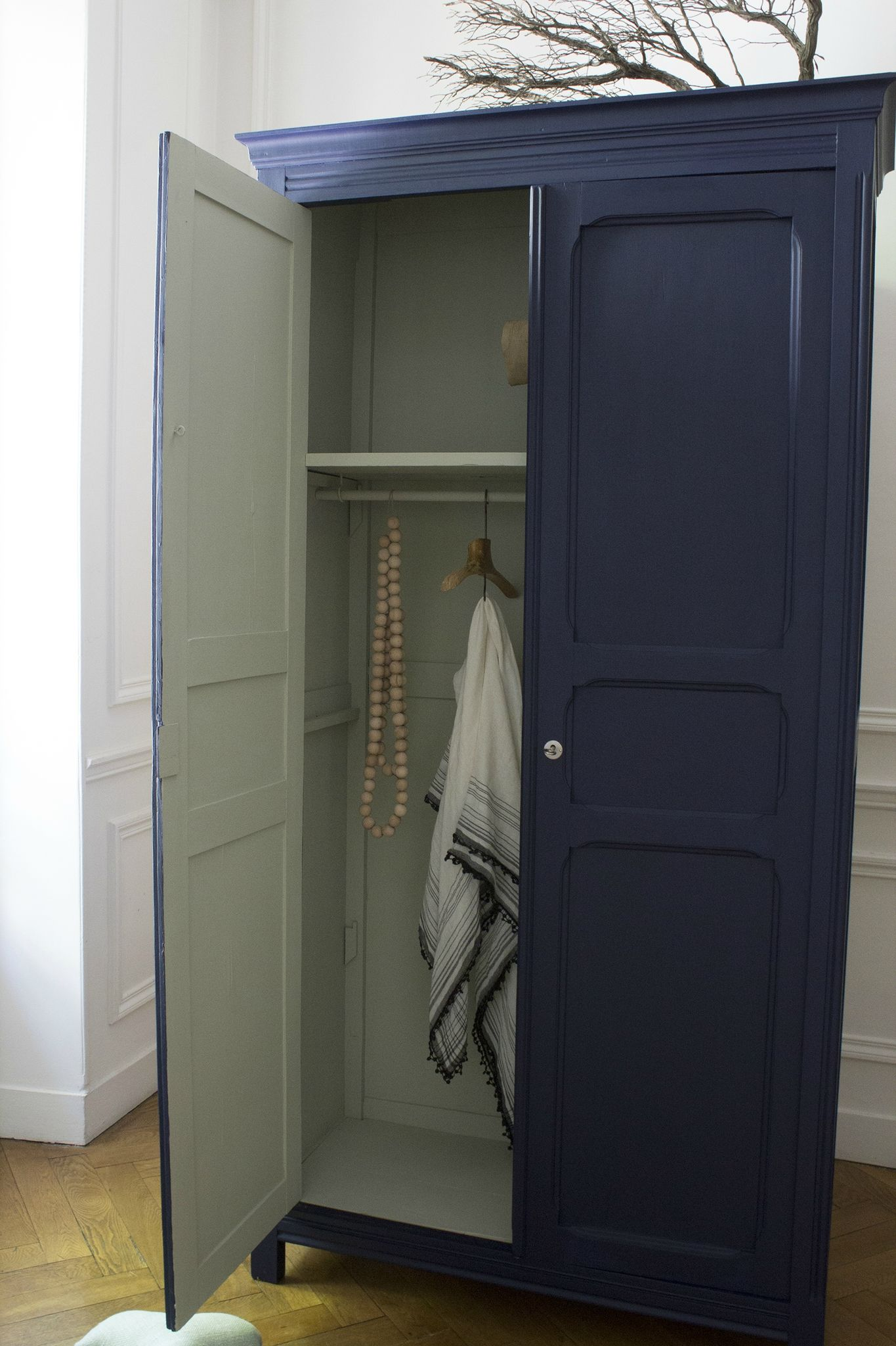 Armoire parisienne bleue chambre enfant TRENDY LITTLE 3 | MEUBLE ...