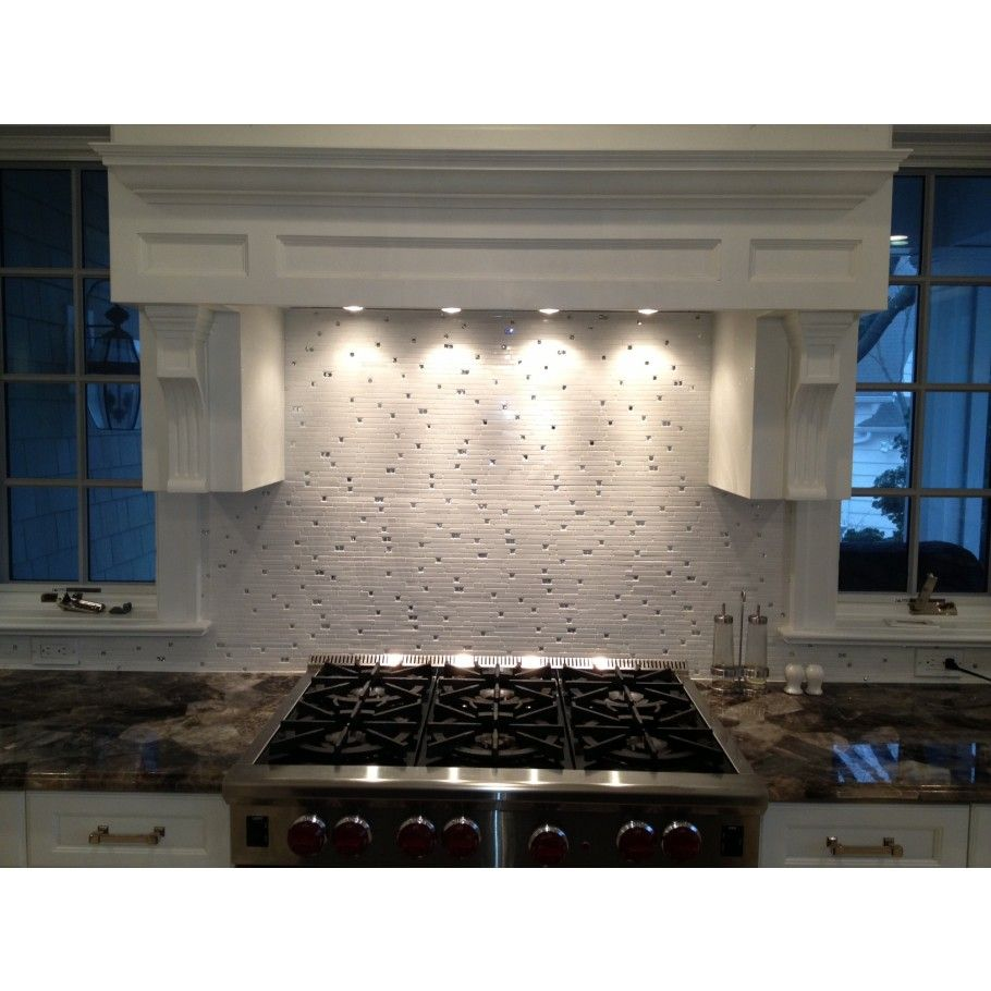 - Enchanted Grecian Marble & Glass Tile Glass Mosaic Tile Kitchen
