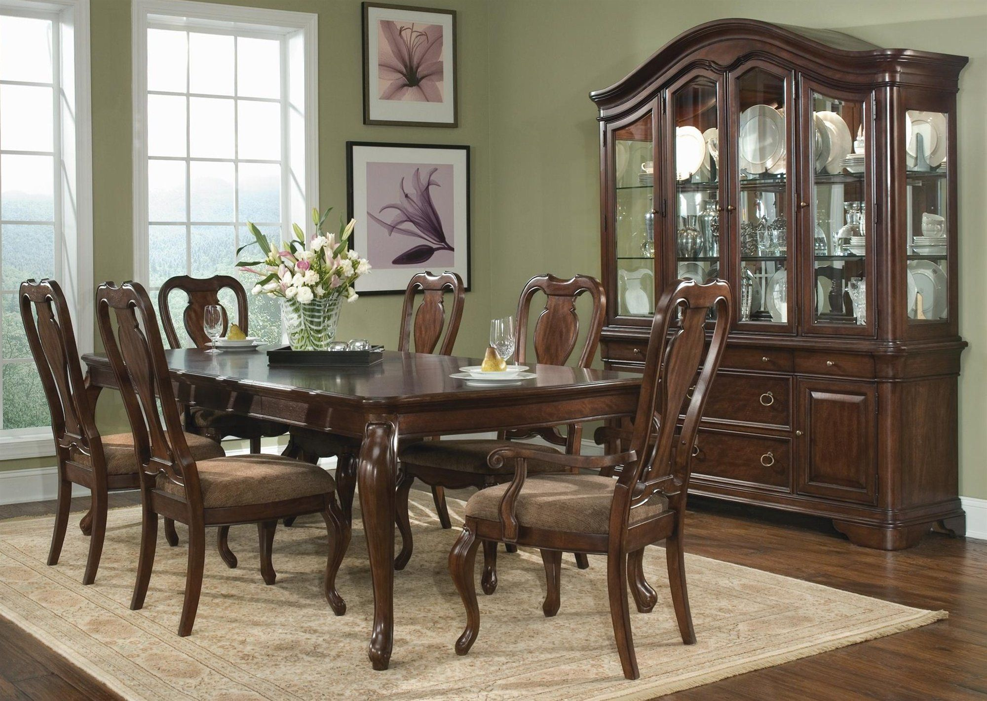 cherry dining room furniture | ... Chairs Dining Set in Cherry ...