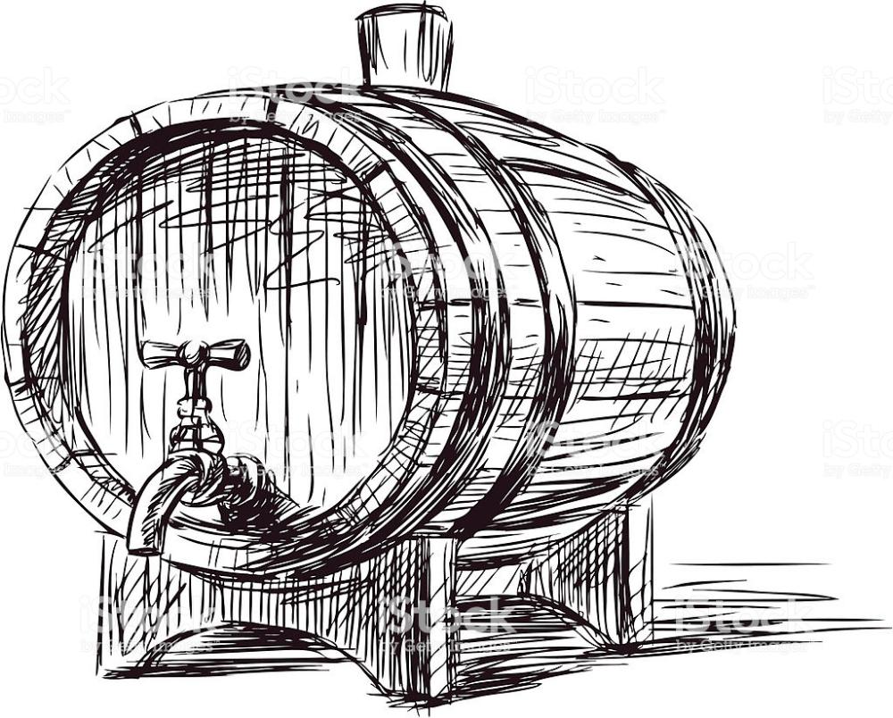 Vector Image Of An Old Wine Barrel Vector Art Free Vector Art Art