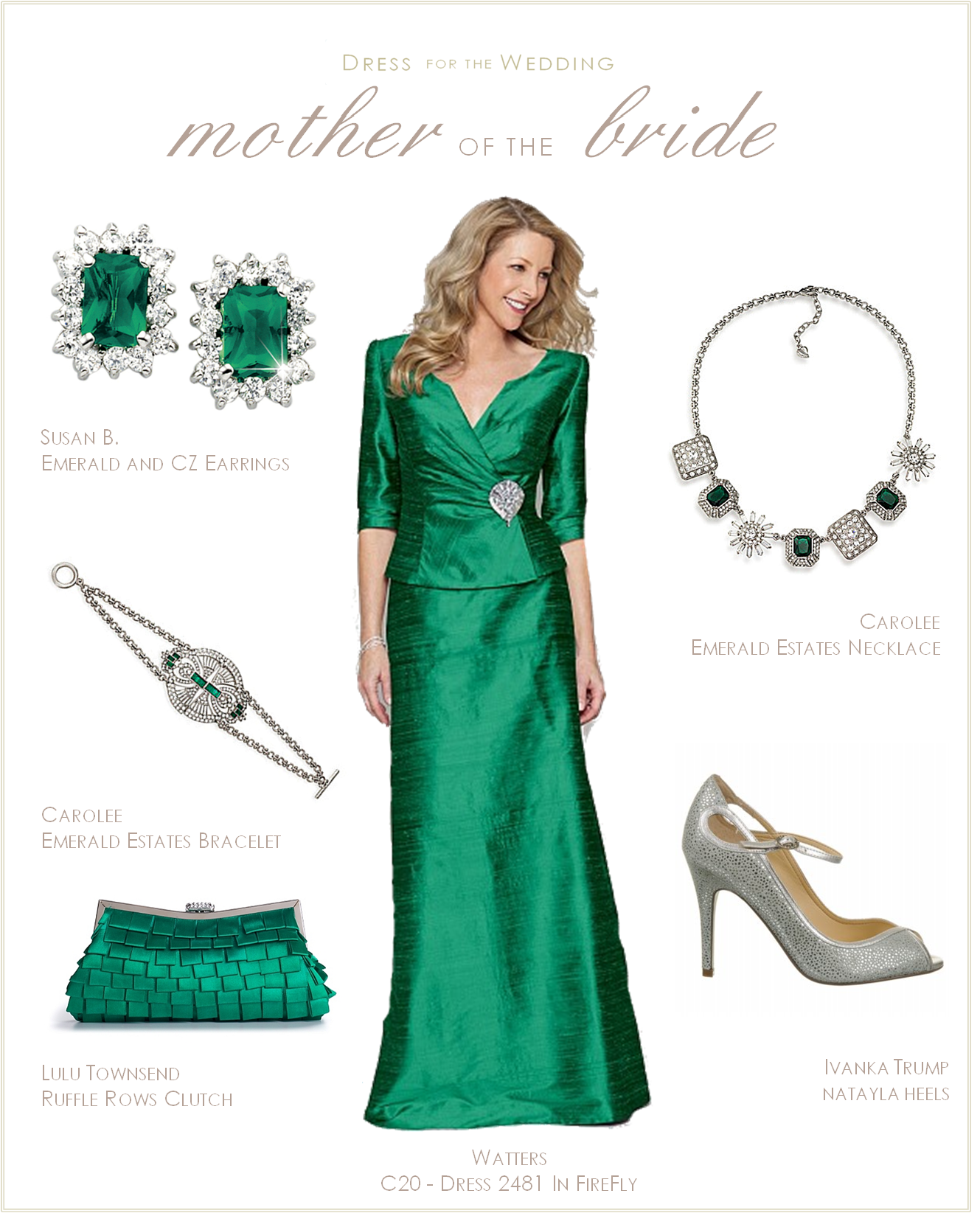c6b4b4906a Mother of the Bride Dress  Emerald Green. The perfect mother-of-the-bride  dress. Collection 20 gown dress 2481 in Firefly.