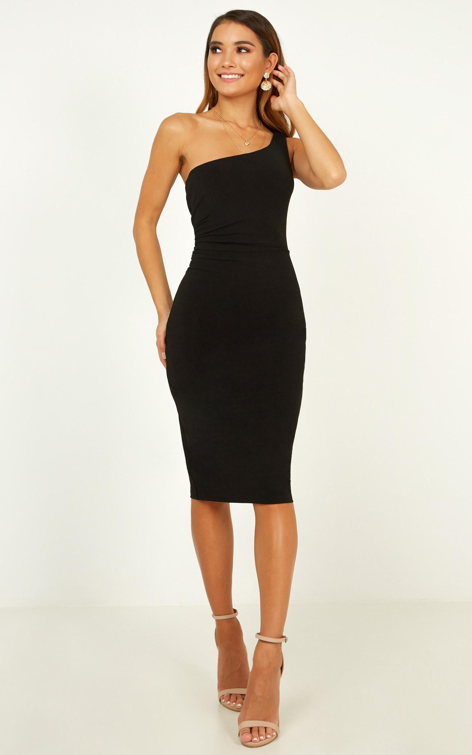 Got Me Looking Dress In Black Showpo Black Dress Women Dress Online Classy Dress [ 2500 x 1563 Pixel ]