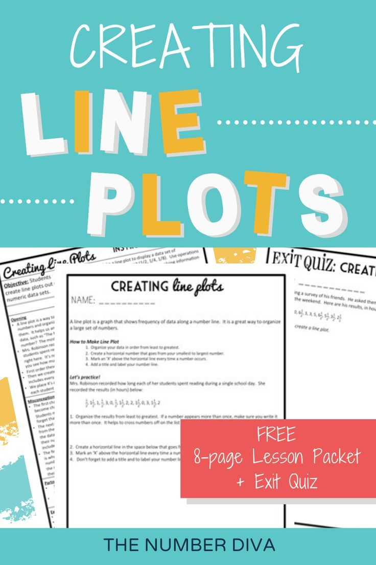 Freebie creating line plots 8page lesson packet exit
