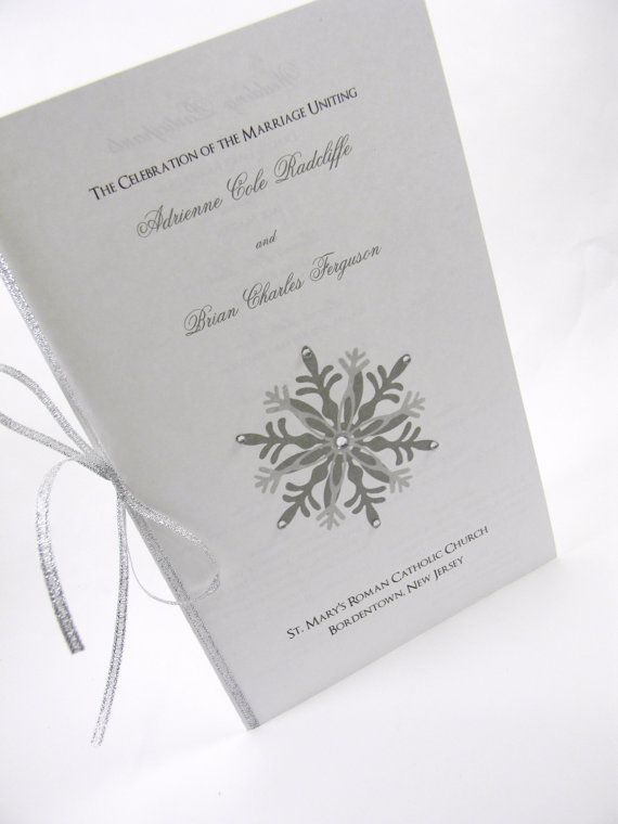Snowflake Wedding Program