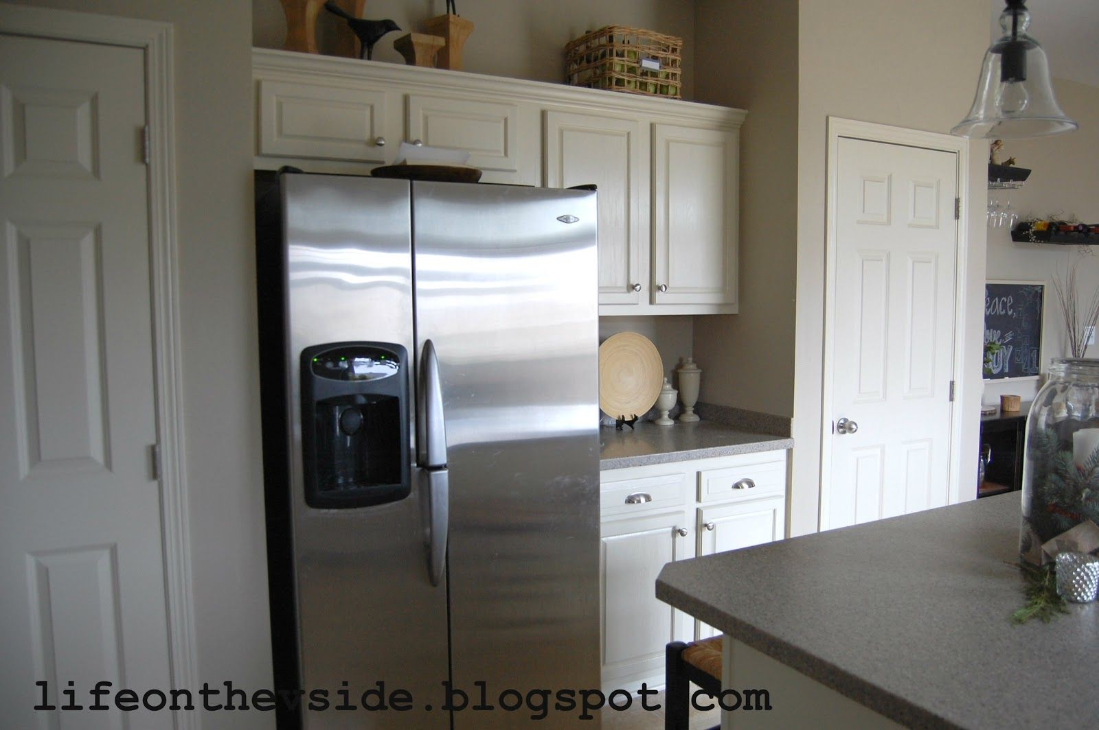 side kitchen painted kitchen cabinets st louis kitchen cabinets ...