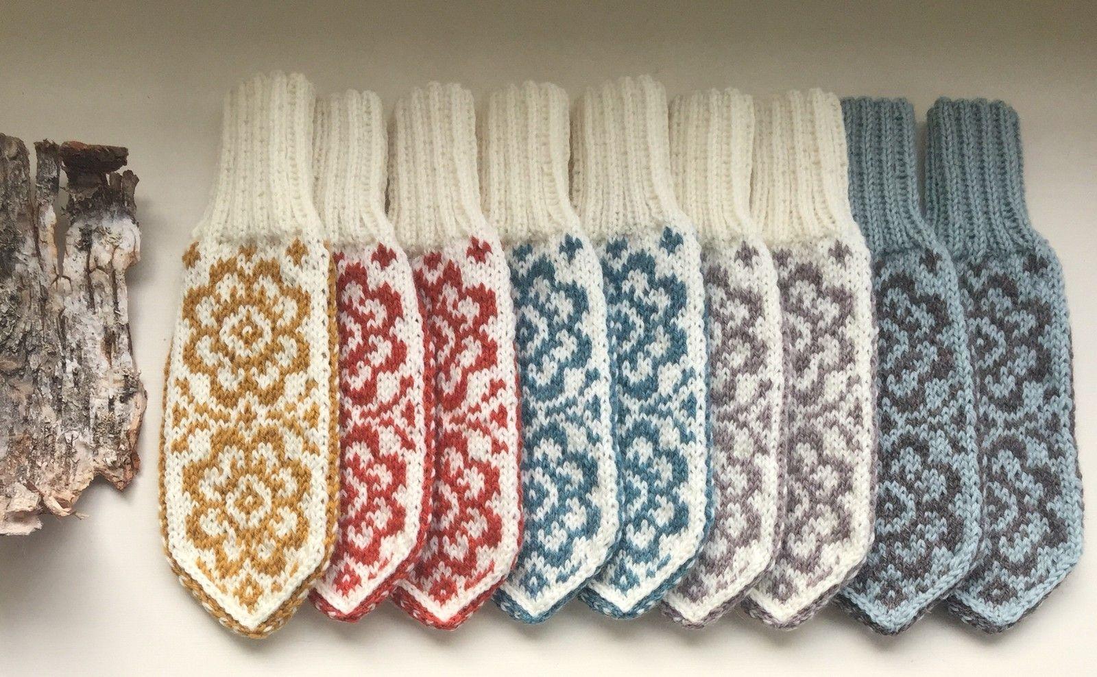 6b00ded9bb1 Mønster selges :Selbuvotter/sokker -frodige blomster,Heidis vott-  Kløverslekta | FINN