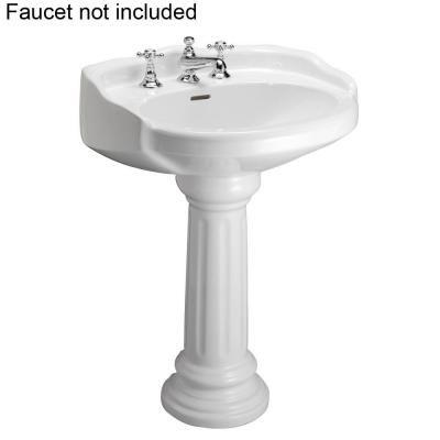 Pegasus Victoria 26 In Pedestal Combo Bathroom Sink For 8 In