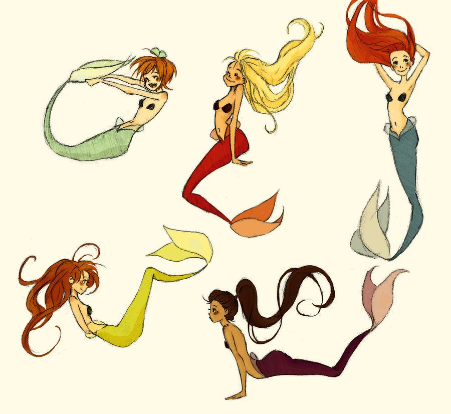 Mermaid Drawings That Are Easy | Mermaids by ~MadLibbs on ...