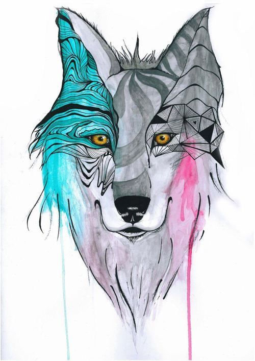 582d08ad61f4 wolf tattoo tumblr - Google Search