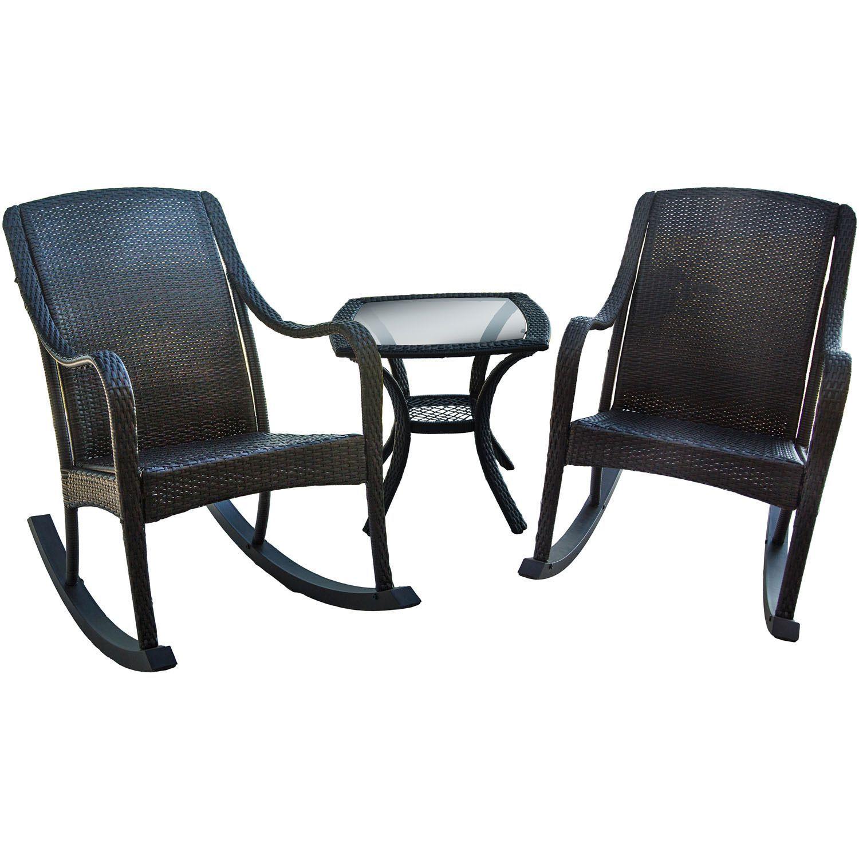 Hanover Outdoor Orleans 3-piece Rocking Patio Set , Patio Furniture