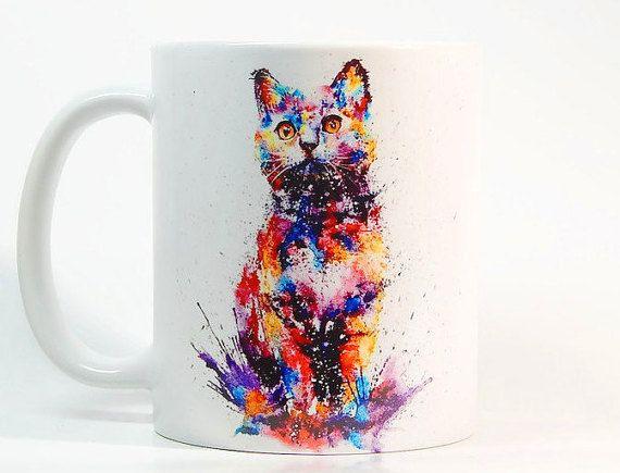 Tazza di caffè del gatto gatto tazza tazza di ColorfulPrintedGifts