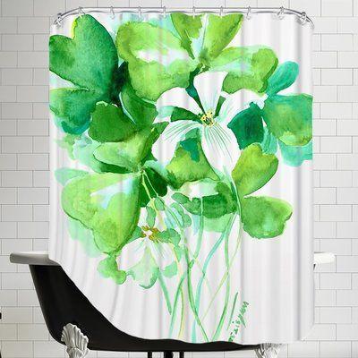 The Holiday Aisle Shamrock Single Shower Curtain Curtains