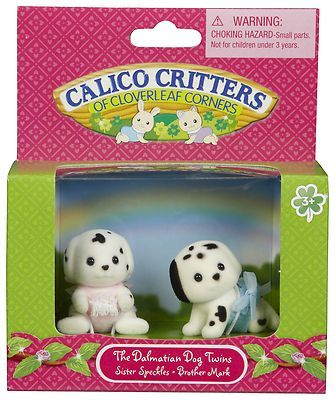 Calico Critters Dalmatian dogs Twins