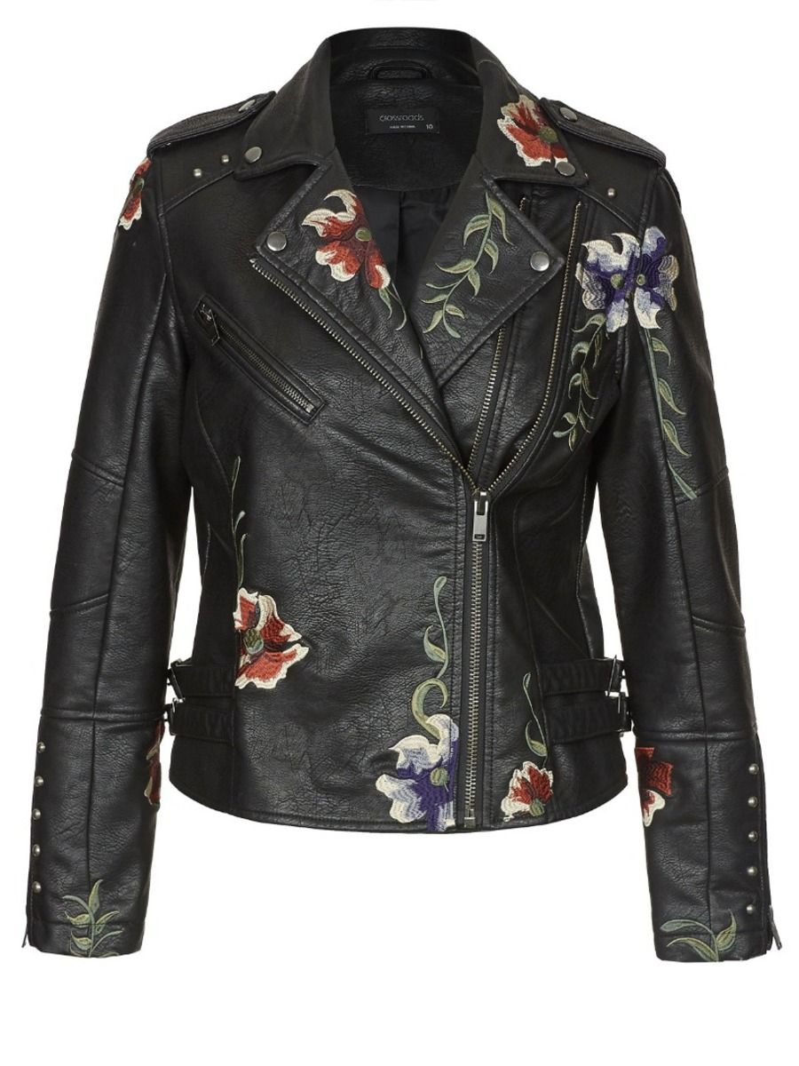 Embroidered Biker Jacket Clothes, Fashion, Altered couture