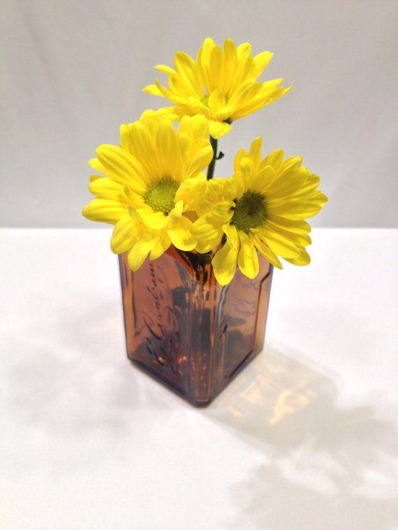 Repurposed Liquor Bottle Cointreau Repurposed Vase By Recastglass