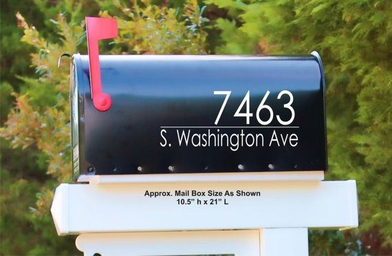 Craftsman House Numbers Mailbox Decals Address Sign Front Door Decor New Home Gift Mail Vinyl Decal Mailbox Decals Mailbox Stickers Address Decals