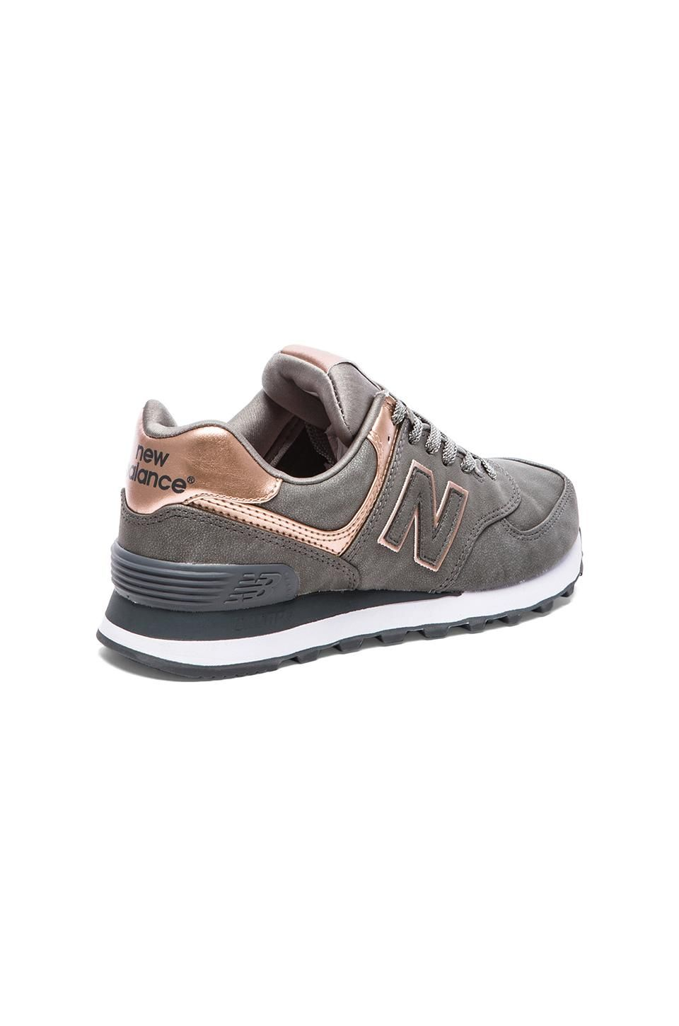 info for 52530 a1690 New Balance 574 Precious Metals Collection Sneaker in Silver ...