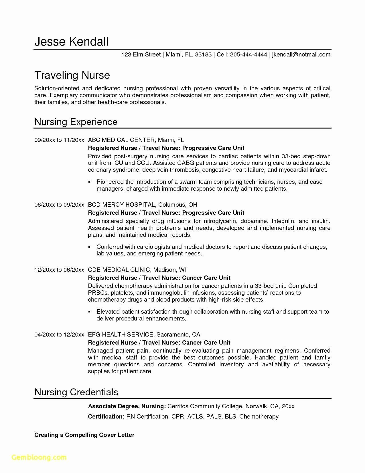 Example Of A Brand Statement Resume Objective Examples Nursing