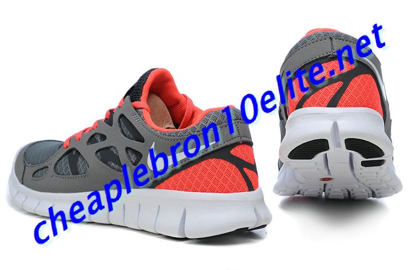 Grey Orange Nike Free Run 2 Womens 443816 016