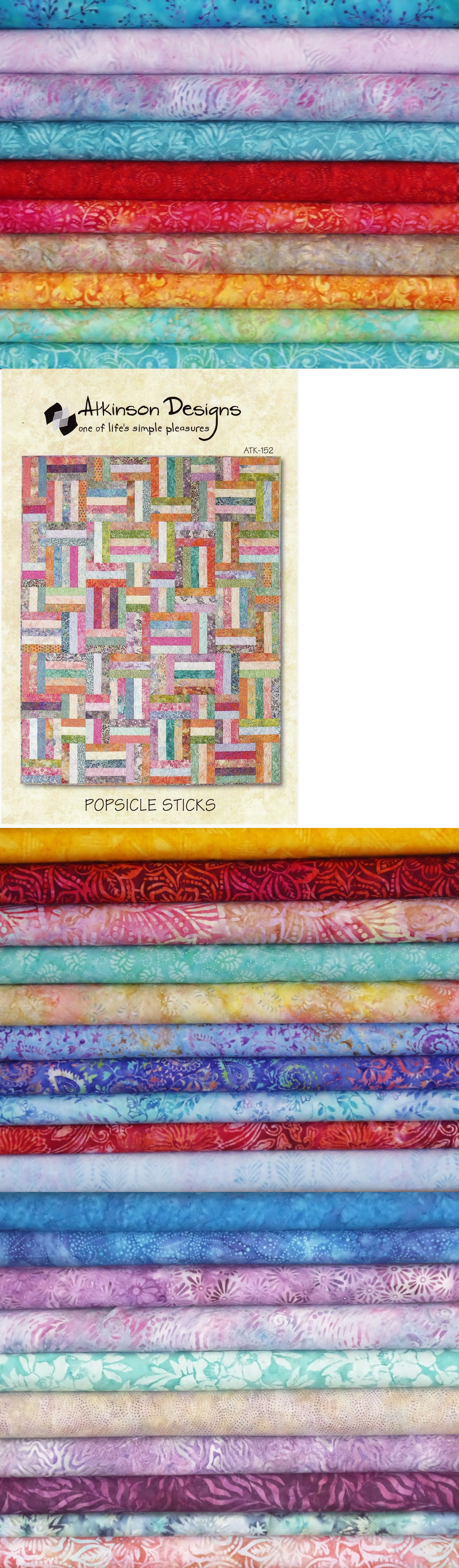 Quilting Kits 19160 Popsicle Sticks Quilt Kit With 72 Different