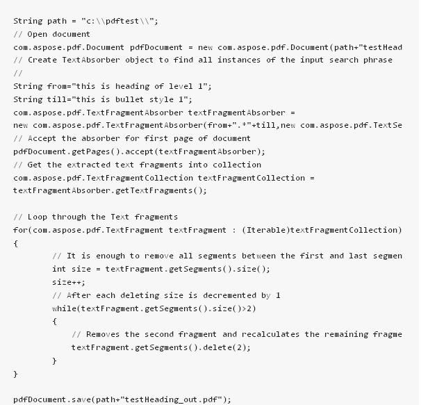 Java Code For Searching Two Strings And Remove The Text Between