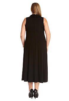 Karen Kane Plus Size Fashion Black Cowl Neck Maxi Dress ...