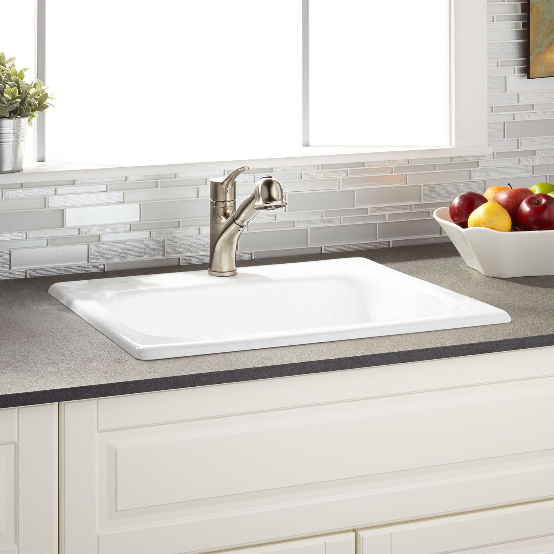 25 Kilane Cast Iron Drop In Kitchen Sink Drop In Kitchen Sink