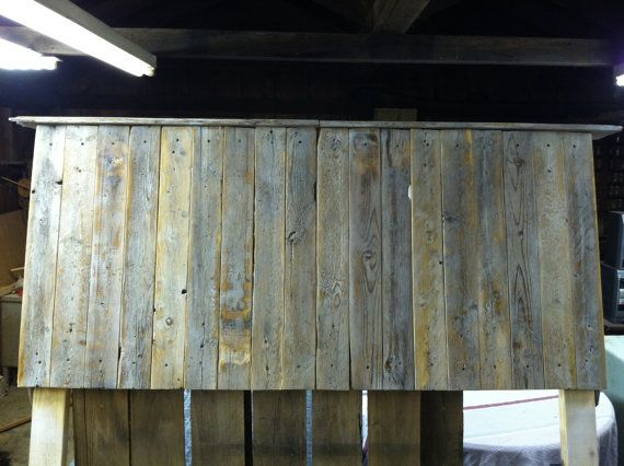 Pallet Wood/Reclaimed Wood Headboard by austinstevens29 on Etsy, $275.00