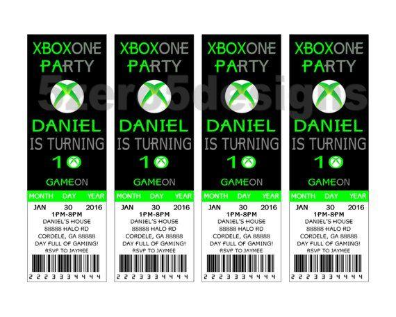 Xbox One Invitation Party Birthday DIGITAL