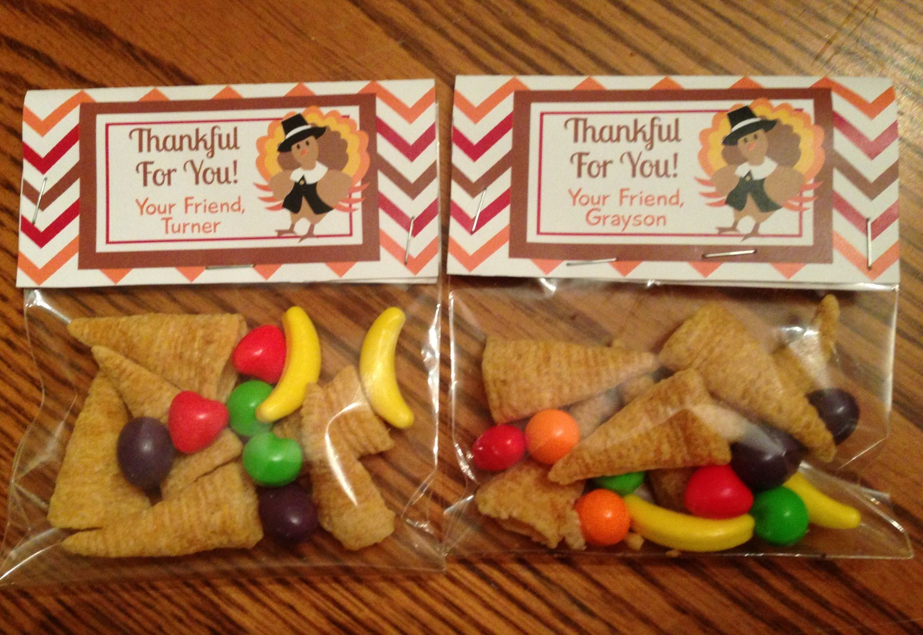Thanksgiving goodies for boys classmates