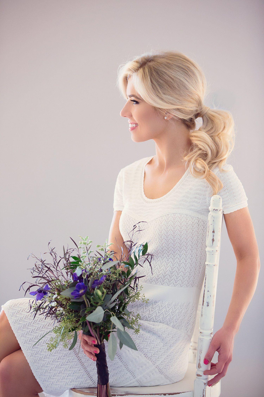 Bridal Pony   Wedding Hairstyle   Blonde   Tutorial   BCBG Dress ...