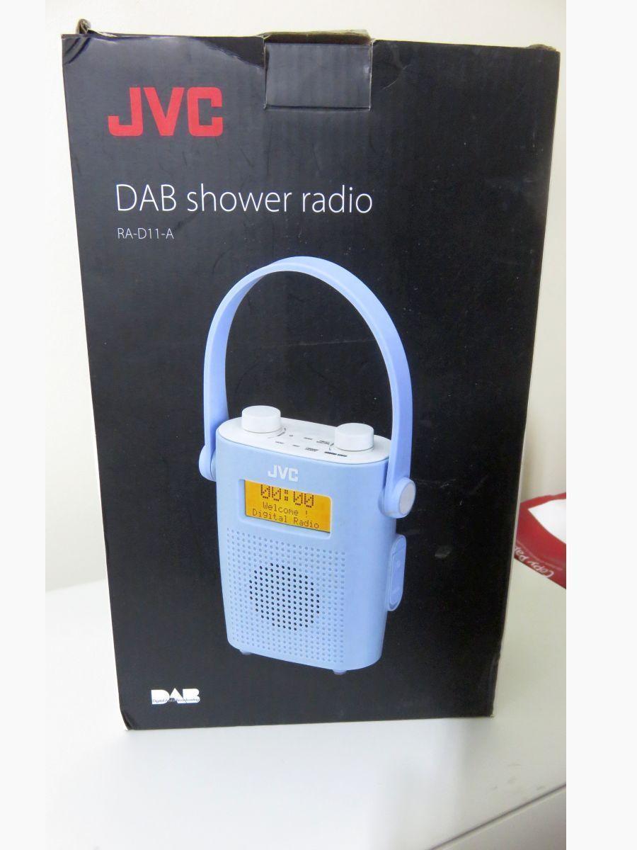 Jvc Ra D11 A Portable Dab Fm Bathroom Clock Radio