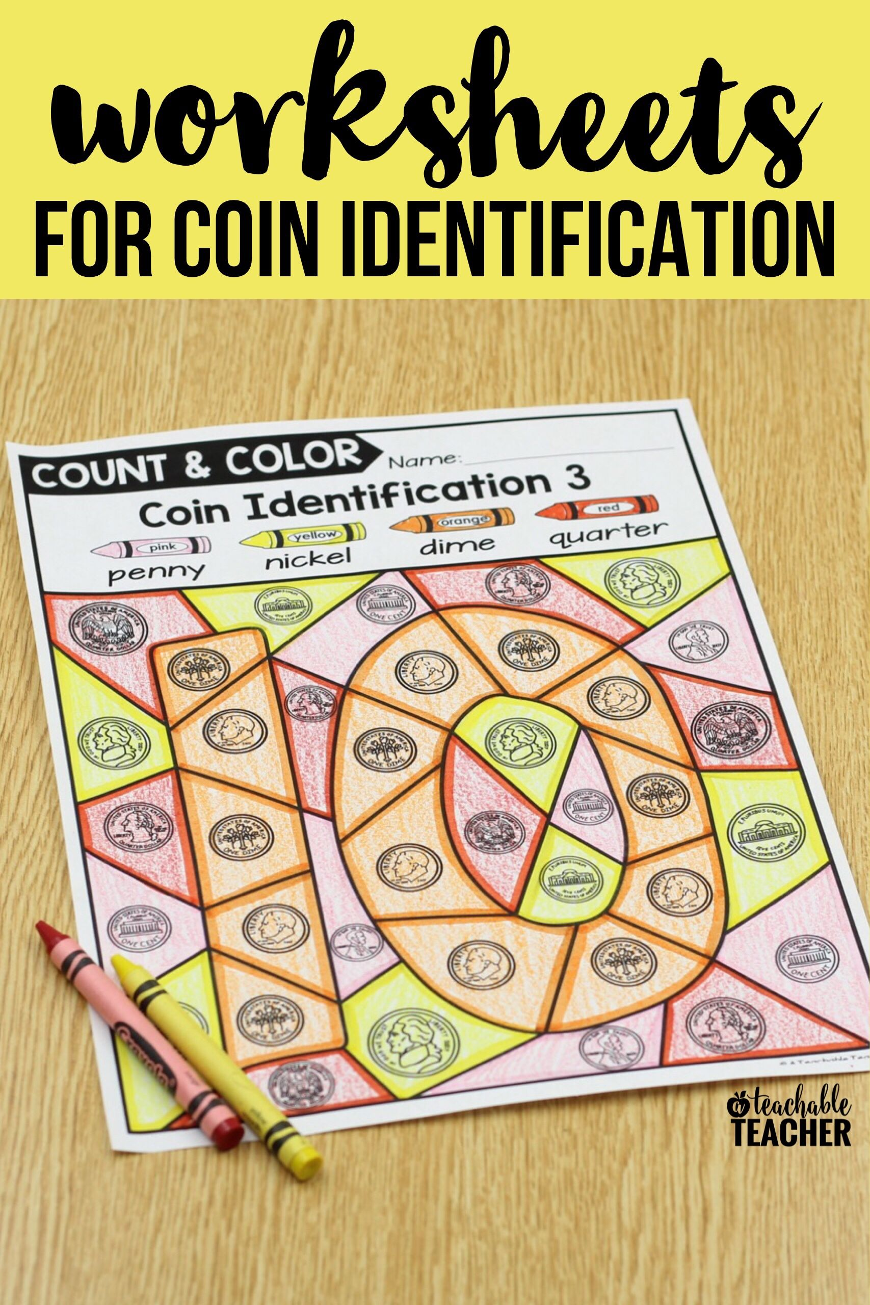 Teach and practice coins (penny, nickel, dime, quarter) with these ...