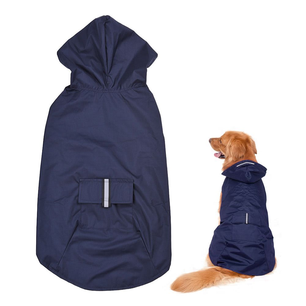 f7455deffbf8  32933406205 Aliexpress Waterproof pet Dog Coat Jacket Reflective Dog  Raincoat with Leash Hole Clothes For Small Medium Large Dogs Labrador on  Aliexpress ...