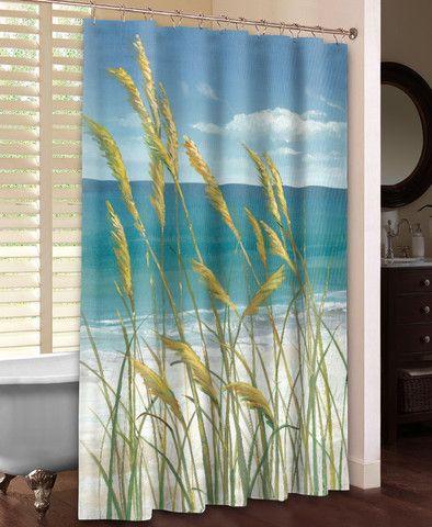 Summer Breeze Shower Curtain Laural Home Guest Bath Wall Murals