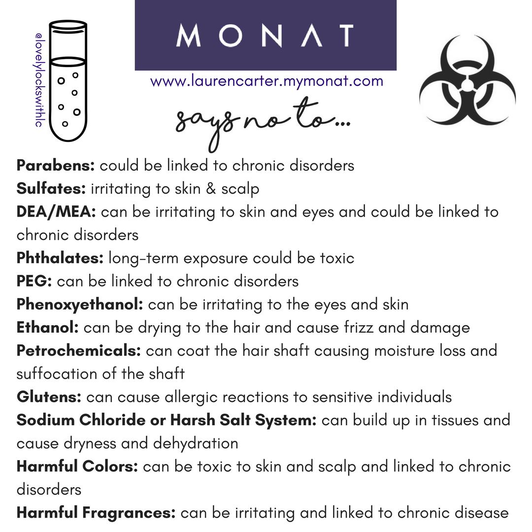 So many harmful ingredients WE say NO to. Monat, Monat hair